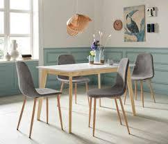 homexperts essgruppe kaitlin tischgruppe set 5 tlg bestehend aus esstisch kailtin breite 120 cm und 4 stühlen bezug in cord