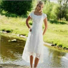 2015 Vintage Lace Vestidos Novia Boho Beach Country Wedding Dresses Square Tea Lenght High Low Bridal