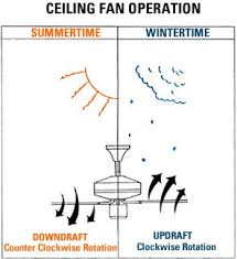 what direction should a ceiling fan spin in the summertime