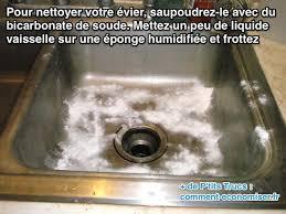produit nettoyant inox cuisine comment nettoyer facilement évier avec du bicarbonate