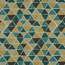 Grey Geometric Pattern Curtains by Geometric Teal And Mustard Yellow Upholstery Fabric Dark