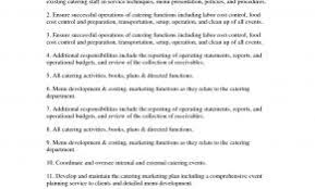 Resume Examples For Banquet Manager Lovely Server Job Description