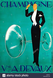 Champagne Devaux The Famous 1930s Art Deco Poster For French House By Ernst Dryden