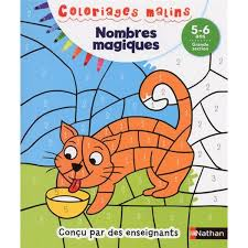 Nathan Coloriage Malin Nombres Magiques Grande Section Hourafr