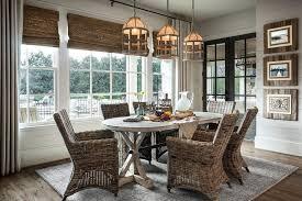 Dining Room Large Farmhouse Kitchen Combo Idea In Atlanta With Light Hardwood Floors And