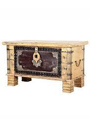 orientalische truhe kiste aus holz ezgi 80cm groß in antik