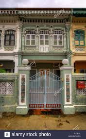 100 Terrace House In Singapore Historic Colorful Peranakan In 4 Stock Photo