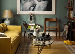 Teal Living Room Walls by 7 Mustard Walls Living Room Living Room Yellow Gold Paint Color