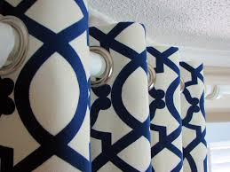 Geometric Pattern Grommet Curtains by Living Room Window Treatments Hgtv