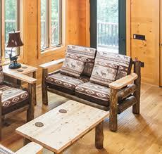 Rustic Living Room Log Sofa