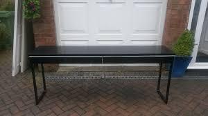 Ikea Besta Burs Desk by Ikea Besta Burs Black High Gloss Desk In Poynton Manchester