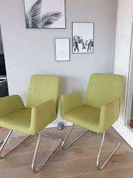 2 moderne esszimmer polsterstühle sessel grasgrün
