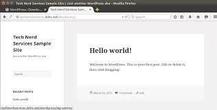 Install Wordpress Lamp Ubuntu 1404 by How To Install Wordpress On Ubuntu 14 04 Tech Nerd Services Blog