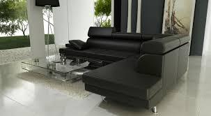 canape simili cuir noir salon avec canape noir