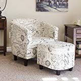 Best Choice Products Home Furniture Club Arm Chair W Ottoman Set White