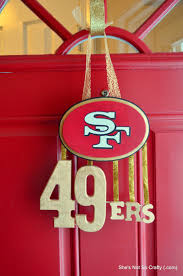 49ers Door Display Maybe We Can Adapt This To Something A Little More Acceptable Here