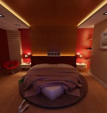 3D Bedroom with Heart Shaped Bed
