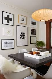 dining room wall ideas dining room transitional with pendant