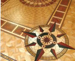 ParquetInlaysMedallions In A Very Custom Wood Floor