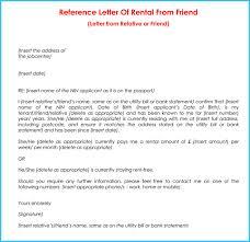 Rental Reference Letter 9 Samples Formats for Prefessionals