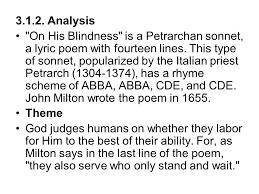 Lecture 7 John Milton Paradise Lost Milton s Sonnets ppt