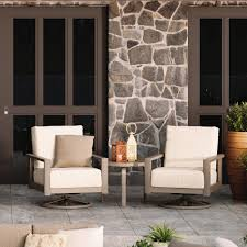 Homecrest Elements Cushion Swivel Rocker Chair And Table Set