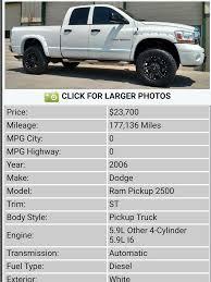 100 Truck Mileage 06 59l Cummins 2500 High Mileage Dodge Diesel Diesel
