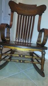 My Antique 1920's? Rocker   Collectors Weekly China Hot Sale Cross Back Wedding Chiavari Phoenix Chairs 2018 Modern Fashion Chair For Events Company Year Of Clean Water Antique Early 1900s Rocking Co Leather Seat The State Supplement 53 Cover Sheboygan Arts And Crafts Mission Oak By Roycroft Latest High Quality Metal Jcph01 Brumby Ftstool Project Sitting Room Palettes Winesburg Ding 42 X Hickory Table With 1 Pair Chairs From Antique Appraisal
