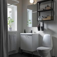 enhet tvällen badezimmer set 11 tlg weiß anthrazit saljen hahn 64x43x87 cm