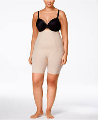 spanx thinstincts plus size firm control high waist shorts 10006p
