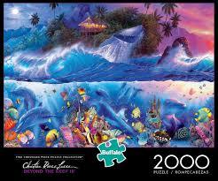 100 Christian Lassen Buffalo Games Riese Beyond The Reef III 2000 Piece Jigsaw Puzzle