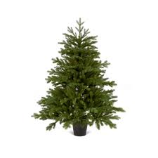 4 Ft Pre Lit Potted Christmas Tree by 1 2m Emerald Fir Artificial Pvc U0026 Pe Mix Christmas Tree In A Pot