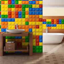 kit 49 aufkleber für fliesen badezimmer lego webwandtattoo