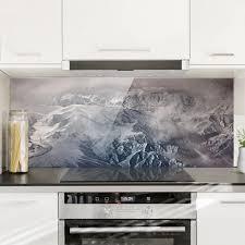 spritzschutz glas berge tibet panorama