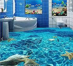 malilove 3d pvc bodenbeläge benutzerdefinierte wasserdicht wallpaper klares wasser seestern muschel 3d badezimmer bodenbeläge bild foto wallpaper für
