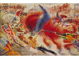 The City Rises 1910 Umberto Boccioni