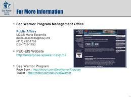 Navy Nrows Help Desk Email by Sea Warrior Program Peo Eis Pmw 240 Command Brief