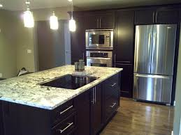 Snap Lock Flooring Kitchen by Granite Countertop White Kitchen Cabinets With Brown Walls