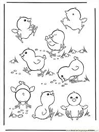 Ng Pages Easter Chicken Coloring Page