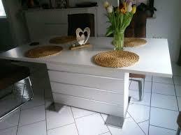 neuwertiger esszimmer tisch weiss mit cromverzierung