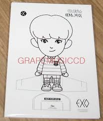 EXO EXOS 1ST COLORING BOOK A DAY IN EXOPLANET 3 CARD SET SEALED Item Number 172286947995