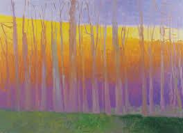 Wolf Kahn Large Tree Line Oil