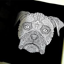 Boxer Illustration From The Detailed Dogs Coloring Book Visit Complicatedcoloring
