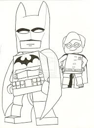 Batman Lego Coloring Pages Free Print For