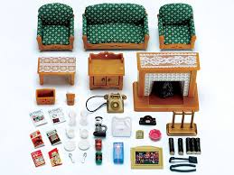 deluxe living room set sylvanian families dolls
