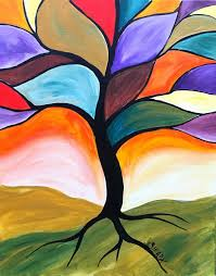 Medium Image For Fall Stained Glass Tree Easy Peasy Acrylic Painting Lesson Beginners This Is