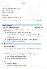 Resume Examples Mba Professional Templates Canva Pinterest