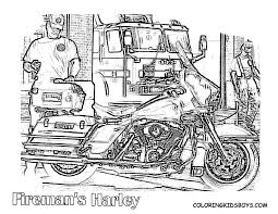 Harley Fireman Motorcycle Picture For Kids At YesColoring