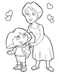 Download Coloring Pages Diego Dora And Eassume Line Drawings