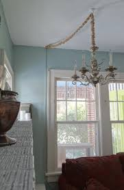 how to hang a chandelier in a room without wiring for an overhead
